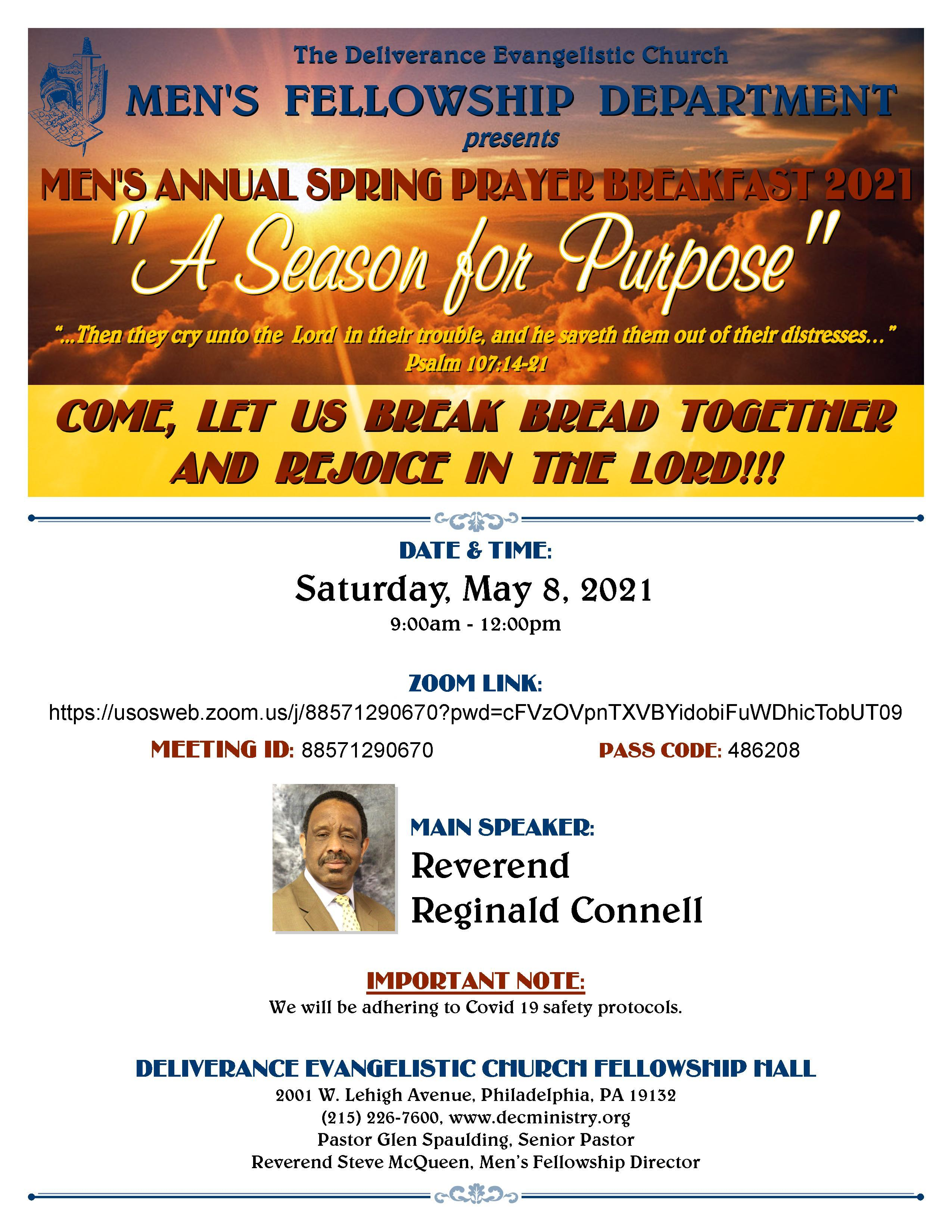 mens prayer breakfast